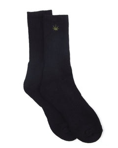 HEMP LOGO CREW SOCKS - HEMPZOO Sustainable organic hemp cannabis clothing hats accessories