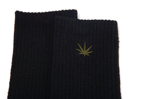 HEMP LOGO CREW SOCKS - HEMPZOO Sustainable organic hemp clothing hats accessories