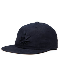 HEMPZOO BLACK LEAF DAD CAP - HEMPZOO Sustainable organic hemp cannabis clothing hats accessories