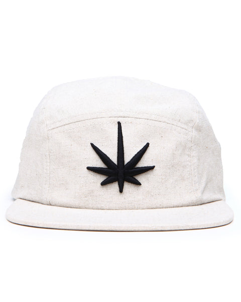HEMPZOO BLACK LEAF CAMPER CAP - HEMPZOO Sustainable organic hemp cannabis clothing hats accessories