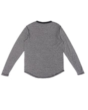 HEMP MICRO STRIPE LONG SLEEVE T-SHIRT ARMOR - HEMPZOO Sustainable organic hemp clothing hats accessories