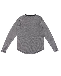 HEMP MICRO STRIPE LONG SLEEVE T-SHIRT ARMOR - HEMPZOO