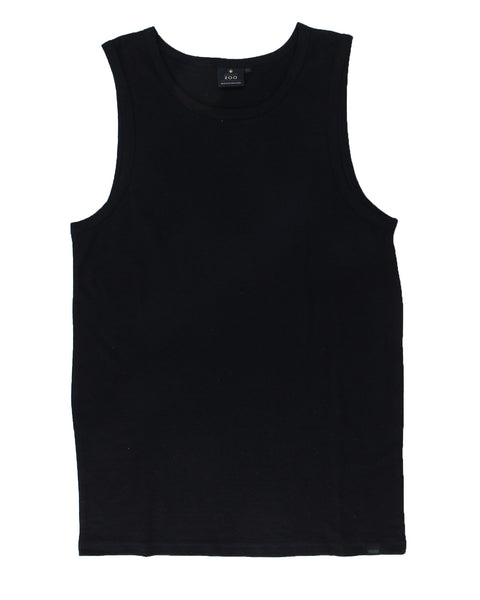 HEMPZOO Hemp Zoo organic hemp clothing in california Hemp Tank top Black Organic Eco-Friendly Fashion Sustainable fashion