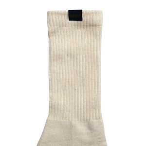 HEMP LABEL CREW SOCKS - HEMPZOO Sustainable organic hemp cannabis clothing hats accessories
