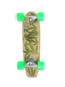 HEMP LEAF SKATEBOARD COMPLETE - HEMPZOO Sustainable organic hemp cannabis clothing hats accessories