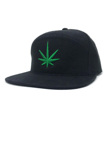 HEMPZOO GREEN LEAF ARCH CAP - HEMPZOO Sustainable organic hemp cannabis clothing hats accessories