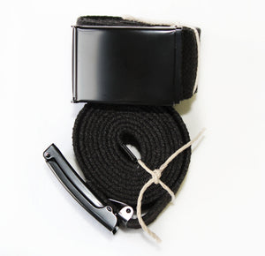 HEMP BLACKOUT BELT - HEMPZOO Sustainable organic hemp cannabis clothing hats accessories