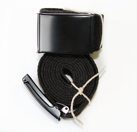 HEMPZOO Hemp Zoo organic hemp clothing in california Organic Eco-Friendly Sustainable Cannabis fashion Bone Belt Blackout Belt Organic hemp webbing