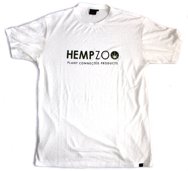 HEMPZOO Hemp Zoo organic hemp clothing in california Hemp T-shirt Natural Bone Black Organic Eco-Friendly Sustainable Cannabis fashion Hemp shirt Organic cotton Tee earth friendly ink printing street wear