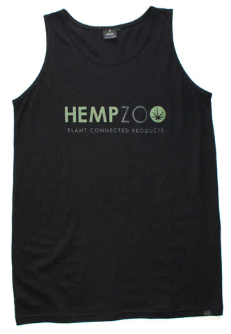 HEMPZOO Hemp Zoo organic hemp clothing in california Hemp tank top Natural Bone Black Organic Eco-Friendly Sustainable Cannabis fashion Hemp shirt Organic cotton Tank Tee