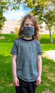 HEMP MIRCO STRIPE KIDS FACE MASK 10 PACK - HEMPZOO Sustainable organic hemp clothing hats accessories