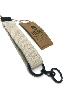 HEMP STRAP KEY CHAIN - HEMPZOO Sustainable organic hemp clothing hats accessories