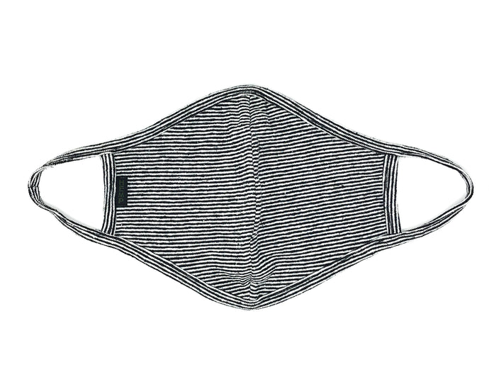 HEMP MICRO STRIPE FACE MASK - HEMPZOO Sustainable organic hemp cannabis clothing hats accessories