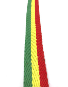 HEMP WEBBING RASTA PER YARD - HEMPZOO Sustainable organic hemp cannabis clothing hats accessories