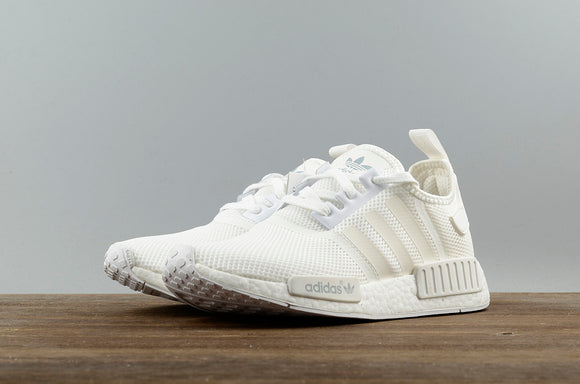 KEEVIN Adidas NMD_R1 White Boost pk running shoes