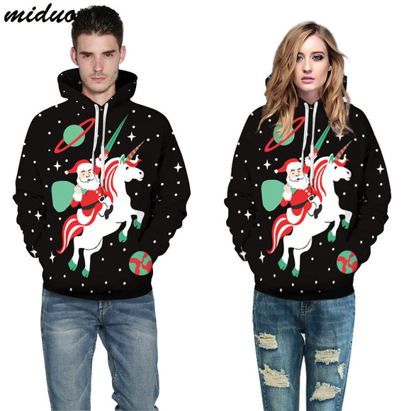 Unisex Realistic 3d Digital Print Pullover Hoodie Hooded Sweatshirt Christmas Knight