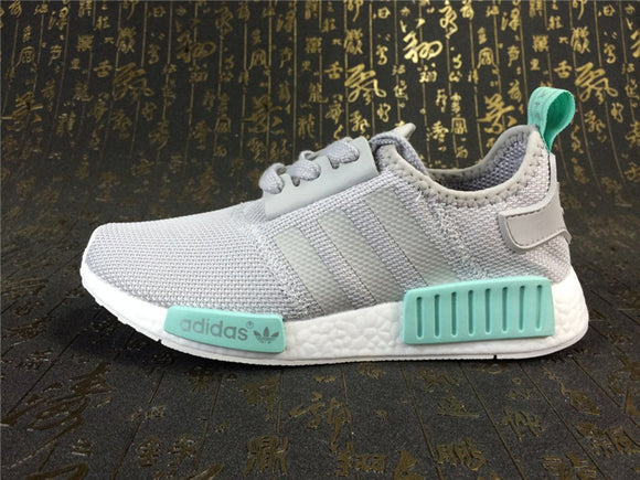 KEEVIN Adidas NMD_R1 Gray green Boost pk running shoes