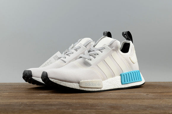 KEEVIN Adidas NMD_R1 white blue Boost pk running shoes