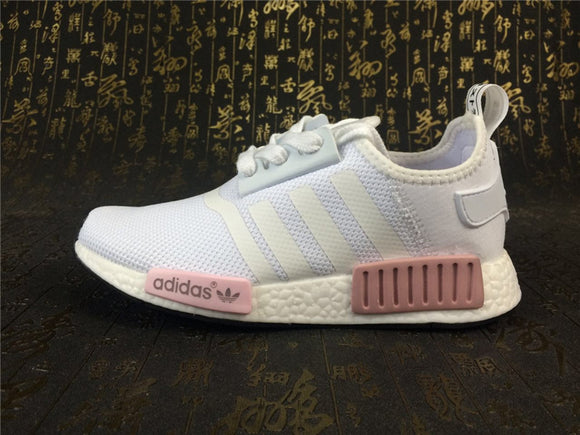 KEEVIN Adidas NMD Runner white pink running shoes
