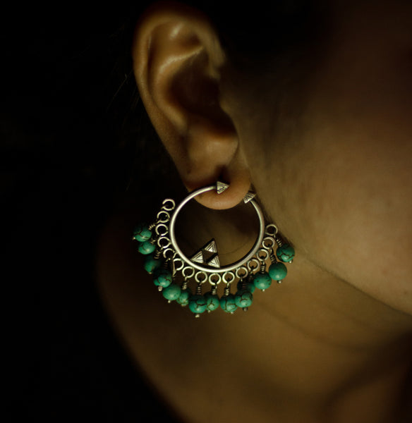 Turquoise Jungle Earrings - Quirksmith