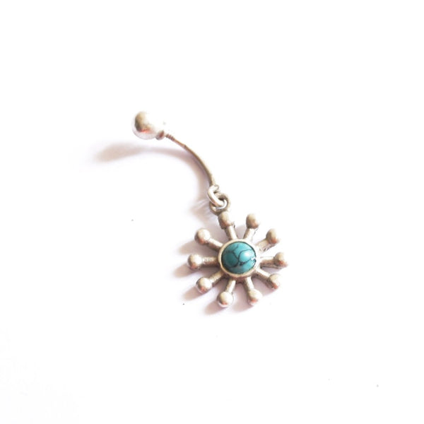Metal Rays Belly Ring
