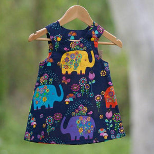 Elephant Pinafore Sz 4