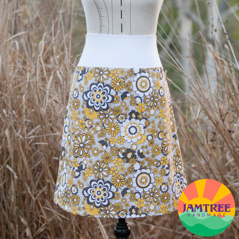 Yellow & Grey Floral