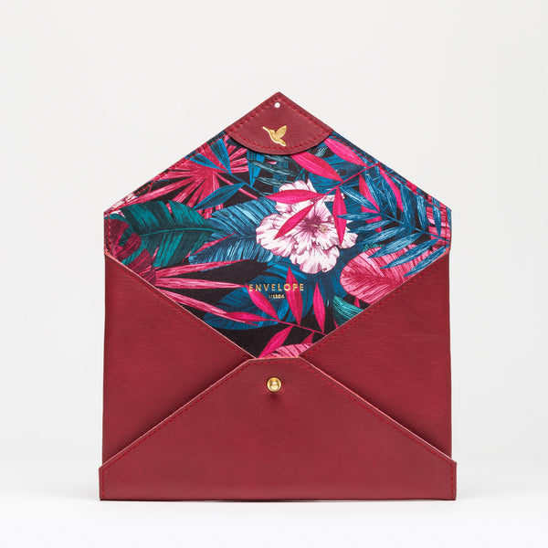CLUTCH Burgundy Forest Leaves