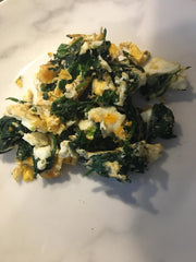 Low carb Scrambled egg and spinach