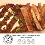 Spicy Turkey Chilli Con Carne and Fries