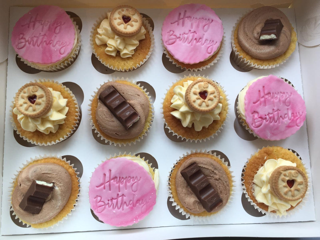 Birthday Cupcake Box of 12 Delivered