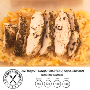 WEDNESDAY - Butternut Squash Risotto with Sage Chicken