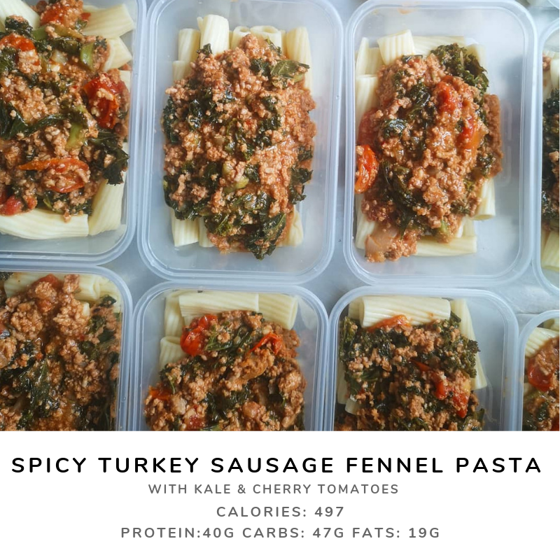 Spicy Fennel Turkey Sausage Kale Pasta
