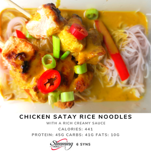 Chicken Satay with Rice Noodles