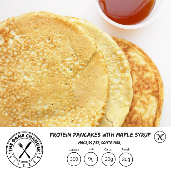 Maple protein pancakes