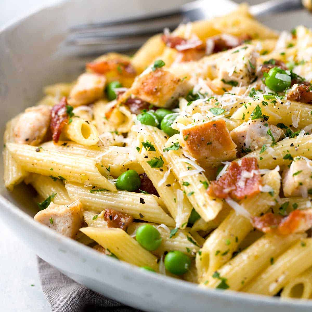 FRIDAY - Chicken and Bacon Carbonara Pasta
