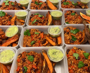 MONDAY 2ND NOVEMBER - Turkey Chilli with Roast Sweet Potato Wedges and Guacamole