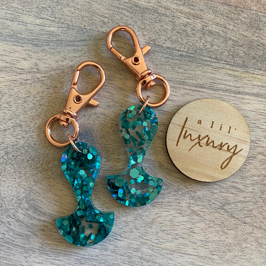 Turquoise Chunky Trolley Token