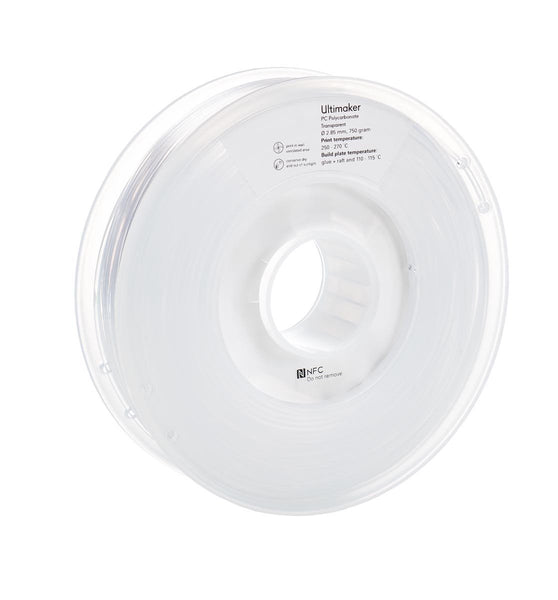 Ultimaker PC (polycarbonate) Transparent Filament (NFC)