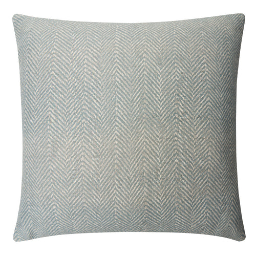 SEA GREY Herringbone printed linen 45cm cushion