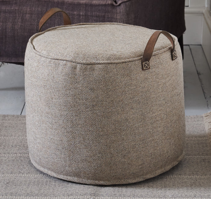 BEIGE herringbone wool