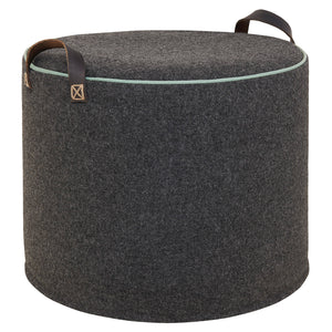 CHARCOAL DUCK EGG Wool Tuffet