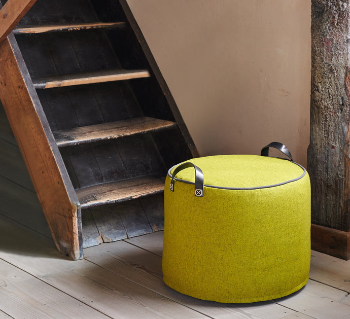 Yellow footstool/pouffe 'Chartreuse'