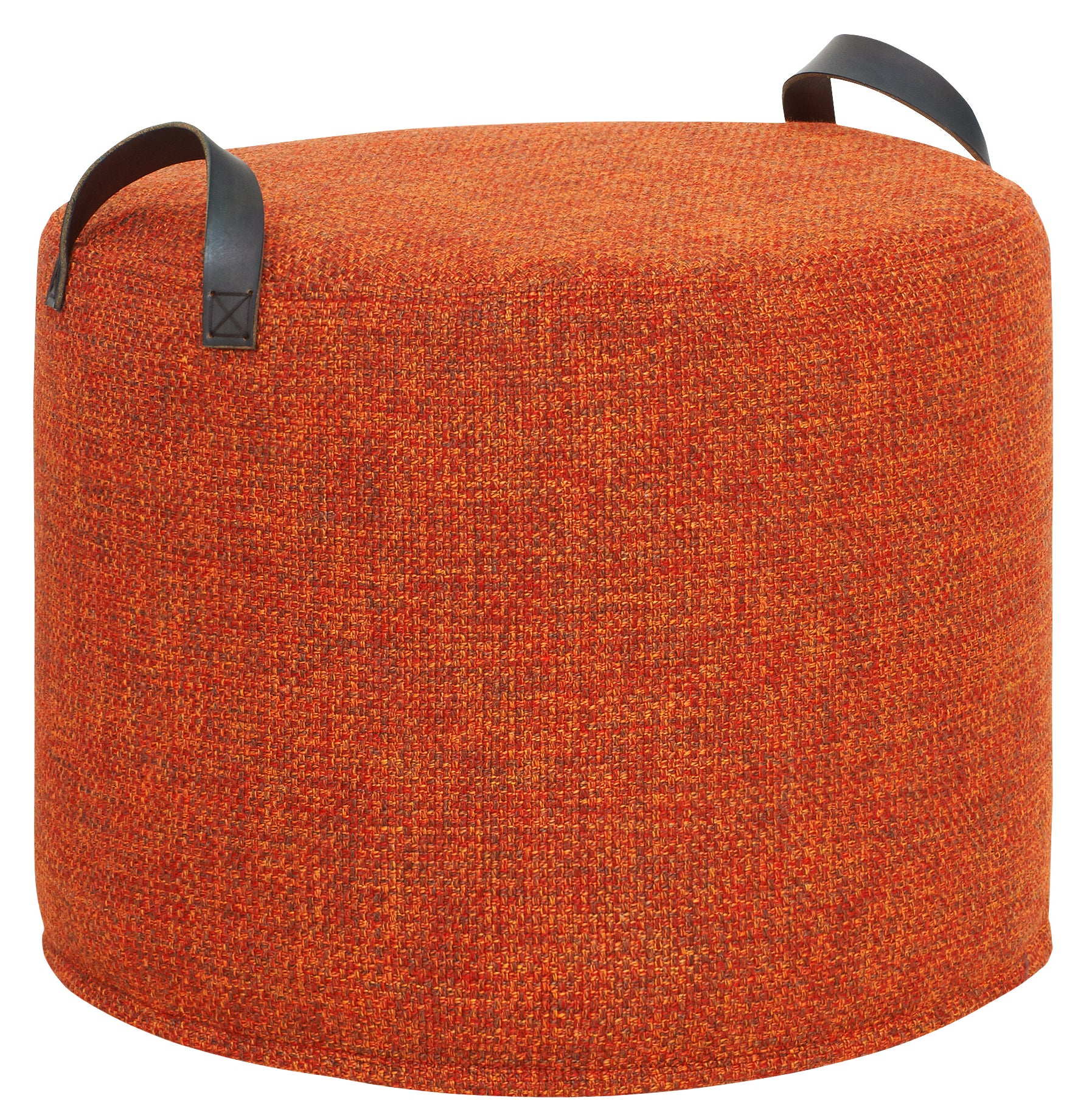 RUST TWEED Fabric Tuffet