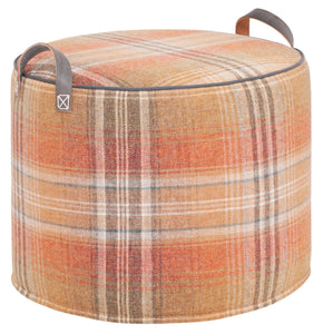 FIRE & SLATE Checked Wool Tuffet