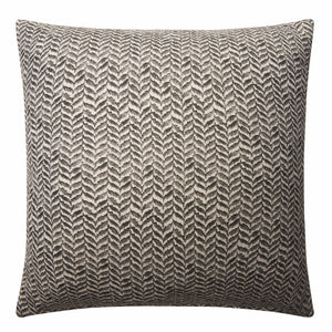 CHARCOAL Linen leaf 45cm cushion