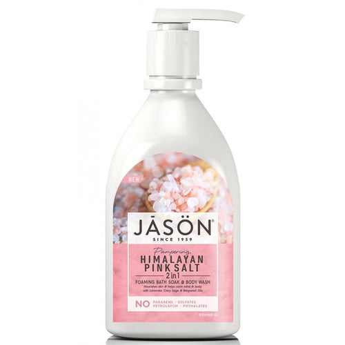Jason- Himalayan Pink Salt 2-In-1 Foaming Bath Soak & Body Wash 887ml