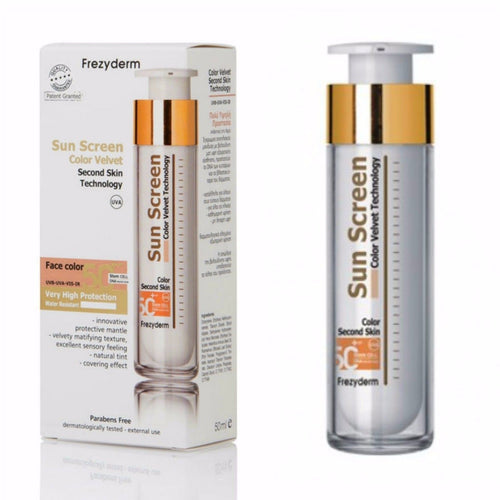 FrezyDerm - Sun Screen Velvet Tinted Face Cream SPF 50+ 50ml