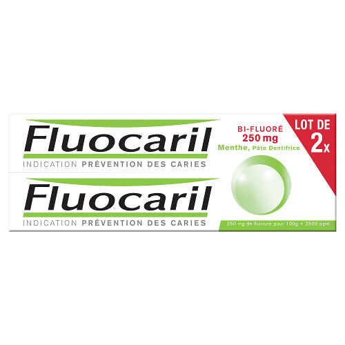 Fluocaril - Bi-Fluoride Mint Toothpaste 2 x 75ml
