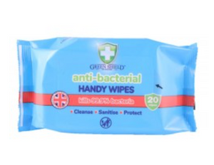 Green Shield anti bacterial handy wipes (20)